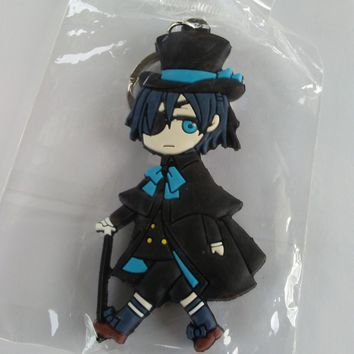 Brand New Japan Anime Black Butler Silicone Keychain