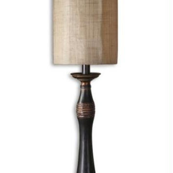 Buffet Table Lamp - Distressed Copper Body With Light Glaze And Aged Effect