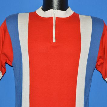 80s Le Coq Sportif Bicycle Racing Jersey t-shirt Medium