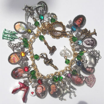 Wizard of Oz Inspired Charm Bracelet w/ 26 by CraftsbySuzieQ