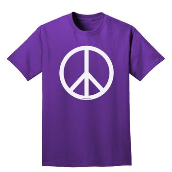 Peace Sign Symbol Adult Dark T-Shirt