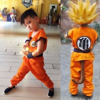 Adult Mens/Children's Anime Dragon Ball Z Monkey Cosplay Costumes Boys Son Goku Costume Kids Halloween Japanese Costume For Men