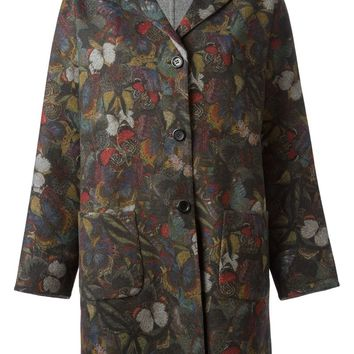 Valentino butterfly print coat