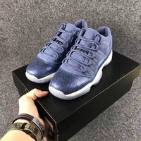 air jordan 11 retro low blue moon basketball shoe 36 40