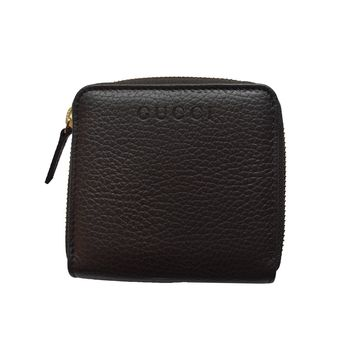Gucci Women's Dark Brown French Flap Wallet 346056