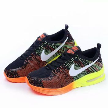 """NIKE"" Trending Fashion Air cushion of screen couple Casual Sports Shoes Orange-yellow"