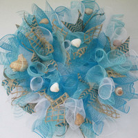 Beach wreath, beach decor, beach wedding decor, summer wreath, summer decor, beach house decor, ocean decor, ocean wreath, seashell decor