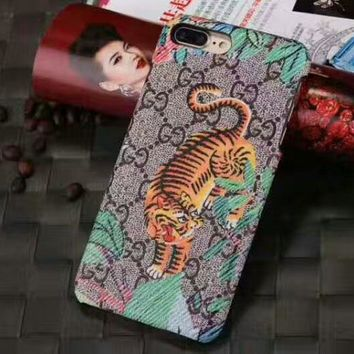 GUCCI tide brand embroidery iPhone7plus mobile phone shell iphone8 couple shell #3