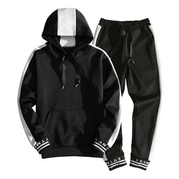 2018 Spring 2pcs Men's Tracksuit Track suits Men Casual Male Autumn hooded Tracksuit Brand Man Leisure Outwear Sets M-3XL MQ472