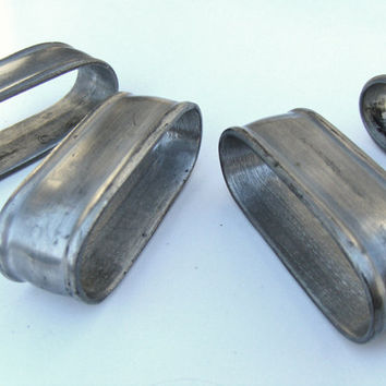 Vintage Pewter Napkin Rings Metal by Colonial Casting