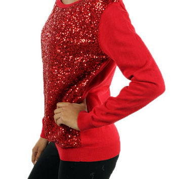 Red Top with Red Sequins