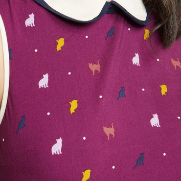 Doubly Delightful Sleeveless Top in Cats