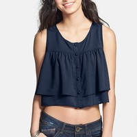 Kirious Ruffle Crop Tank (Juniors) (Online Only)