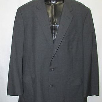 SALE Brooks Brothers Brooks Ease Black Mens 100% Wool,Jacket only Size 46,Solid,