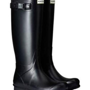 HUNTER ORIGINAL TALL NORRIS FIELD BLACK WELLINGTON BOOTS Welly SIZES 6-11