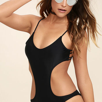 Good Tides Black One Piece Swimsuit