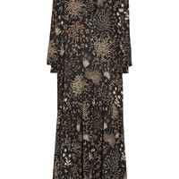 Chloé - Printed silk-crepe gown