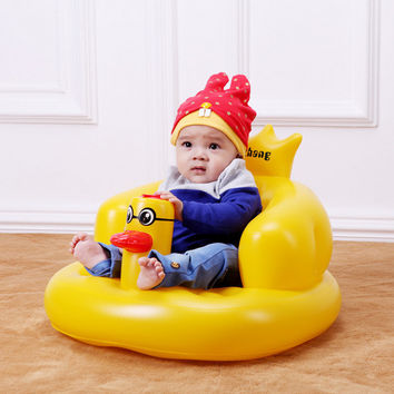 Multifunction baby Inflatable Sofa Duck Chair Kids Learn bath Stools Children Dining Seat travel animal portable music chair
