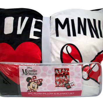 Minnie Mouse Pillow & Blanket Set