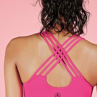 Missguided - Active Key Hole Sports Bra Pink