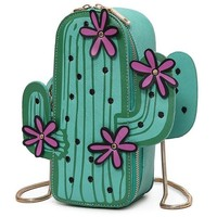 Cactus Pattern Shoulder Bag