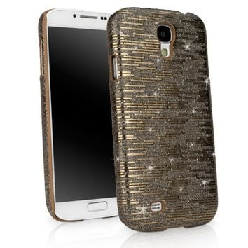 Galaxy S4 Case, BoxWave® [Digital Glitz Case] Slim-Fit Back Cover with Glitter Pattern Design for Samsung Galaxy S4 - Bronze