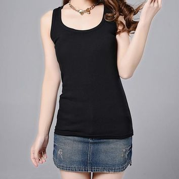 Casual Cotton Stretchable Tank Tops