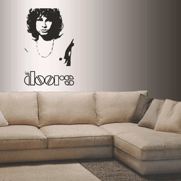 Famous Music Bands art inspired by The DOORS - Jim Morrison vinyl wall decal / sticker / mural
