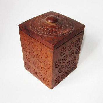 Carved Wooden Box Handmade India by Latrouvaille on Etsy