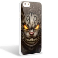 Cheshire Cat Evil Alice in Wonderland for Iphone and Samsung Galaxy Case (iPhone 6 White)
