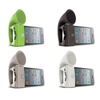 Cute Silicone Horn Stand Portable Speaker Loudspeaker Amplifier for Phone random color