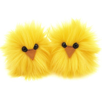 A Pair of Yellow Chicks Easter Micro Peeps Plush Stuffed Toy Animals