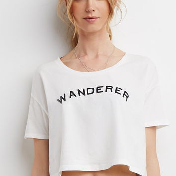 Embroidered Wanderer Boxy Tee