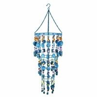 Aesthetically Enchanted Iron Wind Chime, Multicolor By Benzara