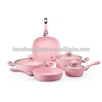 Forged Aluminum Pink Cookware Set Induction Cookware - Buy Pink Cookware,Forged Cookware,Nonstick Cookware Set Product on Alibaba.com