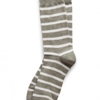 Crook Stripe Sock Grey