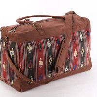 Large Tapestry Weekender Bag, Kilim Getaway Bag, Tribal print Cloth Bag, Ethnic Large Purse