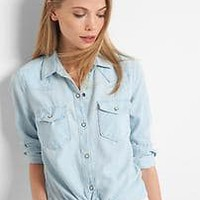 Light denim western shirt | Gap