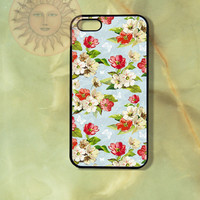 Red and White Roses Flowers Butterflies iPhone 5 5s 5c 4s 4 Ipod touch 5 Samsung GS3 GS4 case-Silicone Rubber Hard Plastic Case, Phone cover