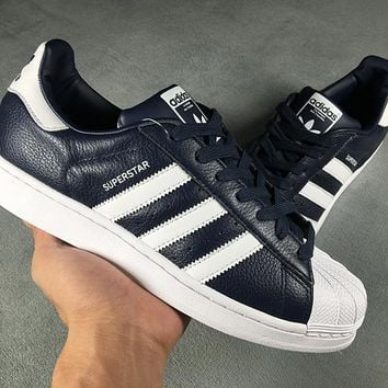 Adidas Superstar Shell-toe PRIDE PACK  Black White Flats Sneakers Causel Sport Shoes