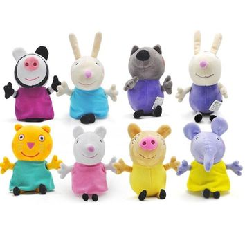 Peppa Pig George Pig 19cm Family friends Plush Toys Soft Stuffed Cartoon Animal Doll for Children's Family Party