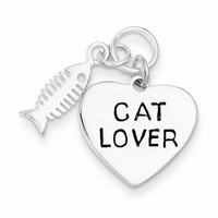 Cat Lover and Fish Bone Charm