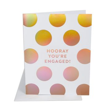 THE SOCIAL TYPE HOORAY ENGAGED CARD