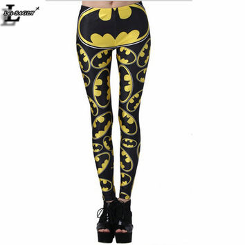 New Design Batman Pattern Print Leggings Shape Slim Casual Creative Gothic Interest  Fitness Women Sexy Pants BL-360