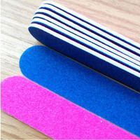 5pc sandpaper Nail File  For Manicure Tools Shape Buffing Block Sand Sponge  - Pre 5 / bag - Photo Color
