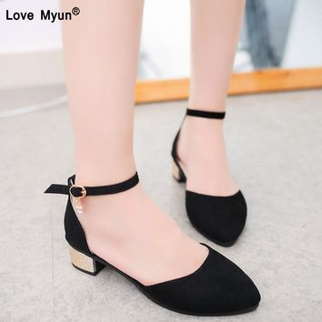 Plus Size 35-42 Women Flats Ankle Strap Ballet Flats For Woman Shoes Shallow dress shoes Ladies Shoes ballerina zapatos mujer
