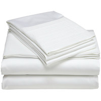 Queen 400-Thread Count Egyptian Cotton Sheet Set in Cloud White