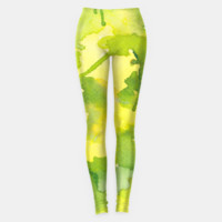 Lime Splash Leggings, Live Heroes