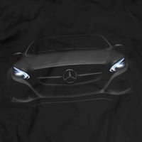 Mercedes Benz AMG GT S Headlights Glow T-Shirt Men Gift Idea Present Awsome Car Lights On Black T Shirt Garment Apparel