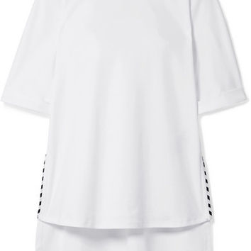 Fendi - Oversized printed cotton-jersey T-shirt